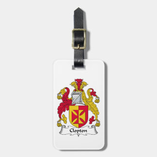 Escudo de la familia de Clopton Etiquetas Para Maletas