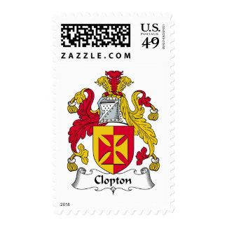 Escudo de la familia de Clopton Franqueo