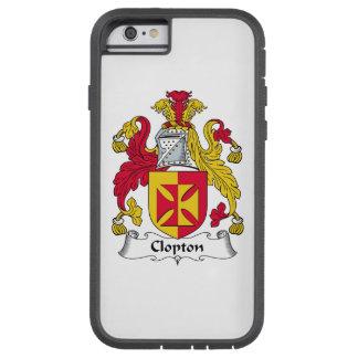 Escudo de la familia de Clopton Funda De iPhone 6 Tough Xtreme