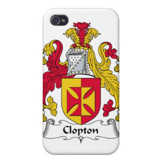 Escudo de la familia de Clopton iPhone 4/4S Funda