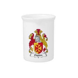 Escudo de la familia de Clopton Jarra De Beber