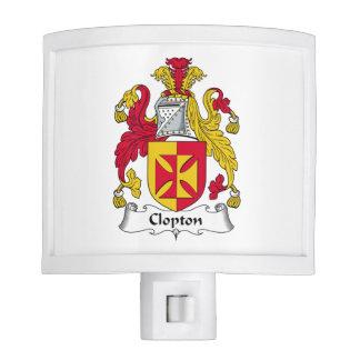 Escudo de la familia de Clopton Lámparas De Noche
