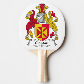 Escudo de la familia de Clopton Pala De Tenis De Mesa