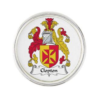 Escudo de la familia de Clopton Insignia