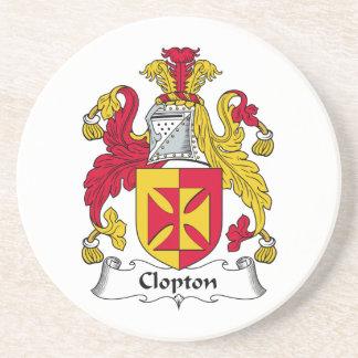 Escudo de la familia de Clopton Posavasos Cerveza