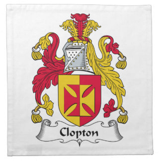 Escudo de la familia de Clopton Servilletas De Papel