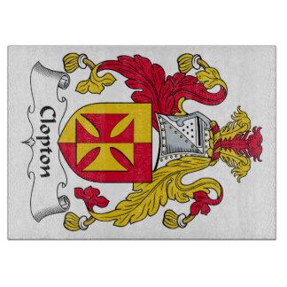 Escudo de la familia de Clopton Tablas Para Cortar