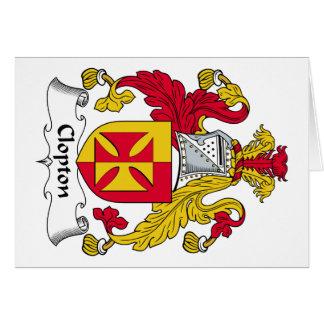 Escudo de la familia de Clopton Tarjetón