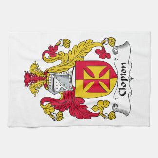 Escudo de la familia de Clopton Toalla
