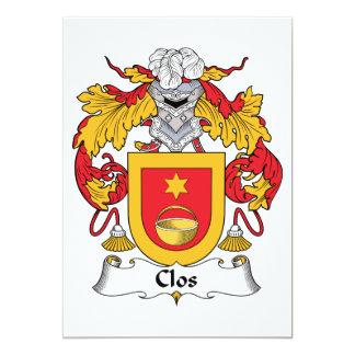 Escudo de la familia de Clos Invitacion Personalizada