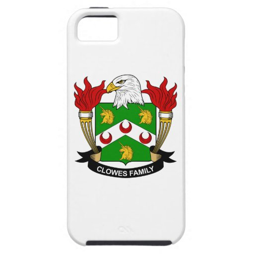 Escudo de la familia de Clowes iPhone 5 Carcasas
