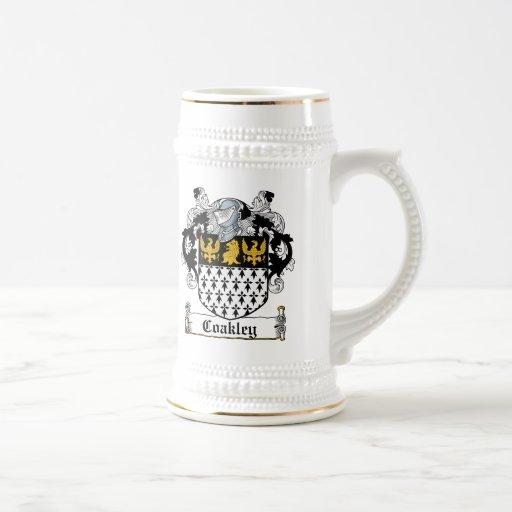 Escudo de la familia de Coakley Tazas De Café