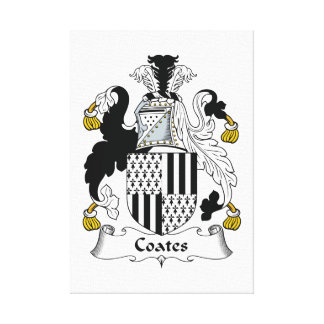 Escudo de la familia de Coates Lienzo Envuelto Para Galerias