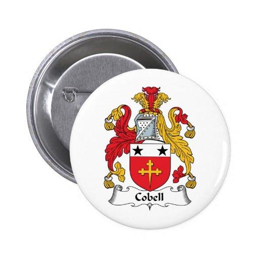Escudo de la familia de Cobell Pin Redondo 5 Cm