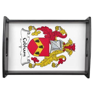 Escudo de la familia de Cobham Bandejas