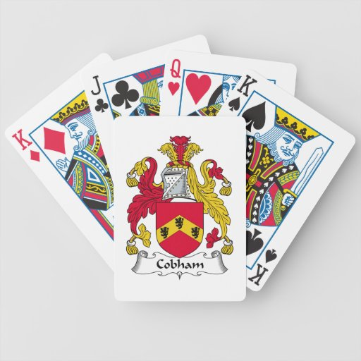 Escudo de la familia de Cobham Baraja Cartas De Poker