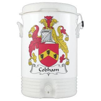 Escudo de la familia de Cobham Refrigerador De Bebida Igloo