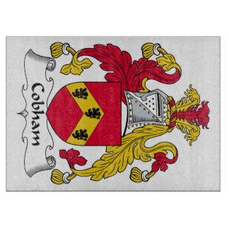Escudo de la familia de Cobham Tabla Para Cortar