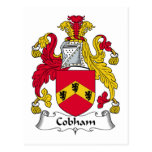 Escudo de la familia de Cobham Tarjetas Postales