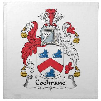 Escudo de la familia de Cochrane Servilleta Imprimida