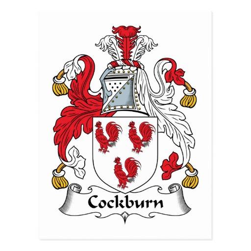 Escudo de la familia de Cockburn Postales