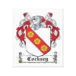 Escudo de la familia de Cocksey Impresiones En Lona
