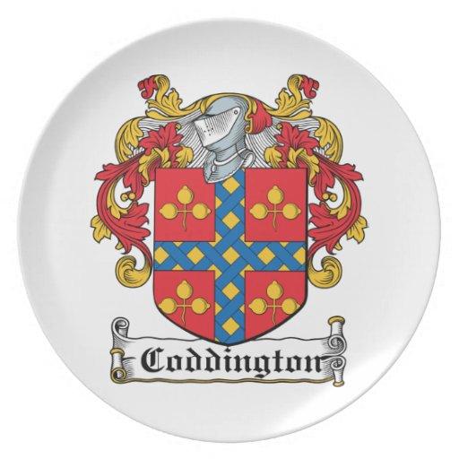 Escudo de la familia de Coddington Plato De Cena