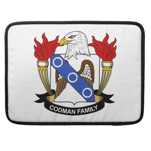 Escudo de la familia de Codman Funda Para Macbook Pro