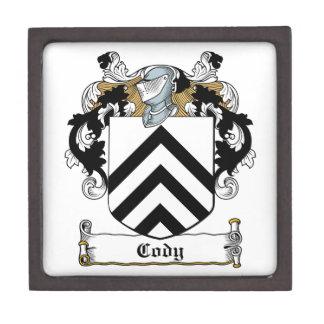 Escudo de la familia de Cody Cajas De Regalo De Calidad