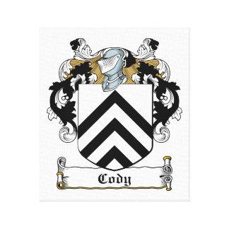 Escudo de la familia de Cody Lienzo Envuelto Para Galerías