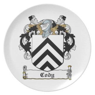 Escudo de la familia de Cody Plato De Comida