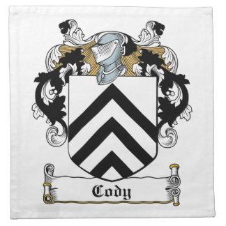Escudo de la familia de Cody Servilleta