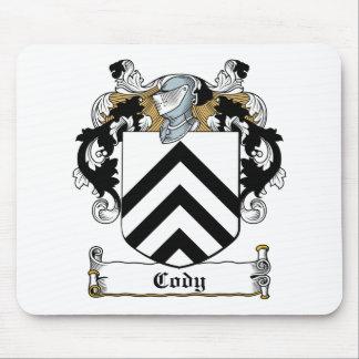Escudo de la familia de Cody Tapetes De Raton