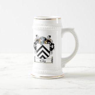Escudo de la familia de Cody Tazas De Café