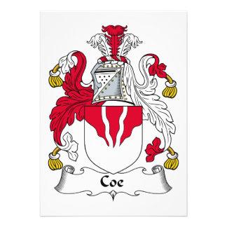 Escudo de la familia de Coe Comunicado Personalizado