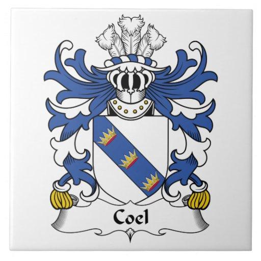 Escudo de la familia de Coel Azulejo Cuadrado Grande