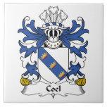 Escudo de la familia de Coel Tejas Ceramicas
