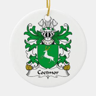 Escudo de la familia de Coetmor Adorno Redondo De Cerámica