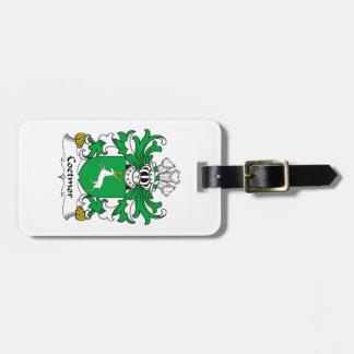 Escudo de la familia de Coetmor Etiqueta Para Maleta