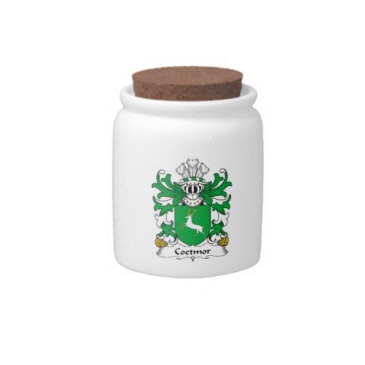 Escudo de la familia de Coetmor Jarras Para Caramelos