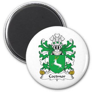 Escudo de la familia de Coetmor Imán Redondo 5 Cm