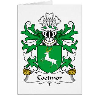 Escudo de la familia de Coetmor Tarjeta De Felicitación