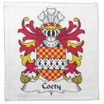 Escudo de la familia de Coety Servilletas De Papel