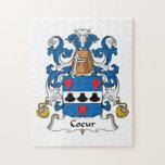 Escudo de la familia de Coeur Rompecabeza Con Fotos