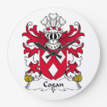Escudo de la familia de Cogan Reloj De Pared