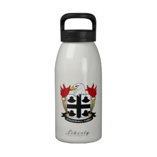 Escudo de la familia de Coggeshall Botella De Agua Reutilizable