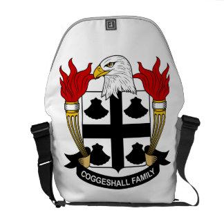 Escudo de la familia de Coggeshall Bolsas De Mensajeria