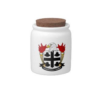 Escudo de la familia de Coggeshall Jarras Para Caramelos