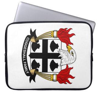 Escudo de la familia de Coggeshall Funda Computadora