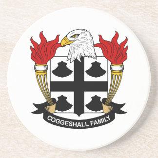 Escudo de la familia de Coggeshall Posavasos Manualidades